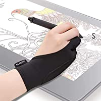 """ELECOM Two-Finger Glove for Graphics Drawing Tablet Light Box Tracing Light Pad for Left / Right Hand 2.6"""" - 3.0"""" (TB…"""