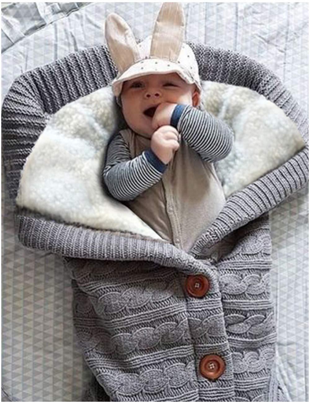 Unisex Infant Swaddle Blankets Newborn Baby Boy Girl Swaddle Soft Cotton Sleeping Bag Wrap Blanket Sack Stroller for Boys and Girls