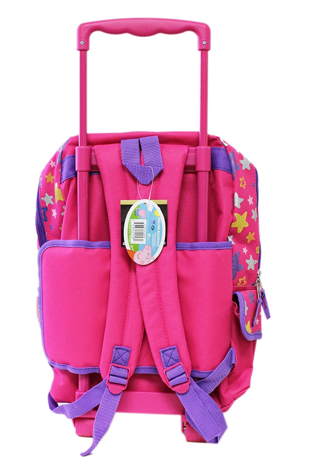Amazon.com | Peppa Pig Perfect and Pink Full Size Rolling Backpack (16in) | Kids Backpacks