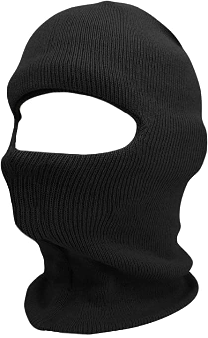 Amazon.com  KBH-05 BLK Balaclava Mask One Hole Face Hat Skull Cap ... 1dae253f8ab