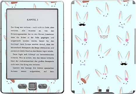 Disagu SF de 103567 _ 955 Diseño Protector de Pantalla para Amazon Kindle 4 eReader Diseño Conejo Caras Azul Transparente: Amazon.es: Informática