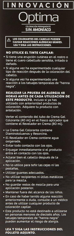 Llongueras Optima Tinte de Cabello Permanente sin Amoniaco Tono #7 Rubio Medio