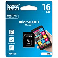Goodram 16GB Class 4 MicroSD Card with Adapter (M40A-0160R11)