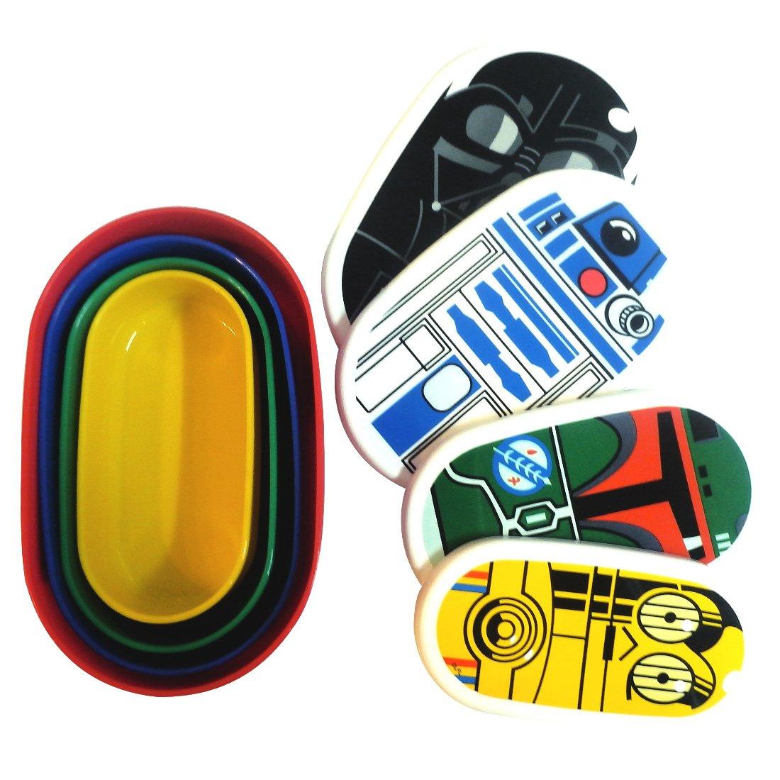 d82d1d6cd404 Amazon.com: Star Wars 4-Piece Nesting Food Storage Boxes ...