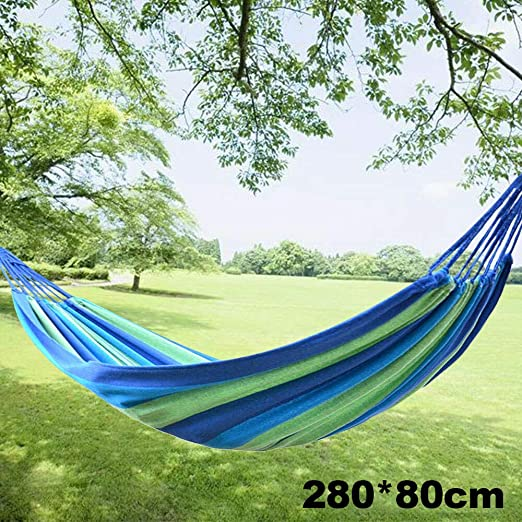 Monarchy Hamaca de lona, para jardín, al aire libre, camping, columpio con cuerda para viaje, camping, senderismo, escalada: Amazon.es: Jardín
