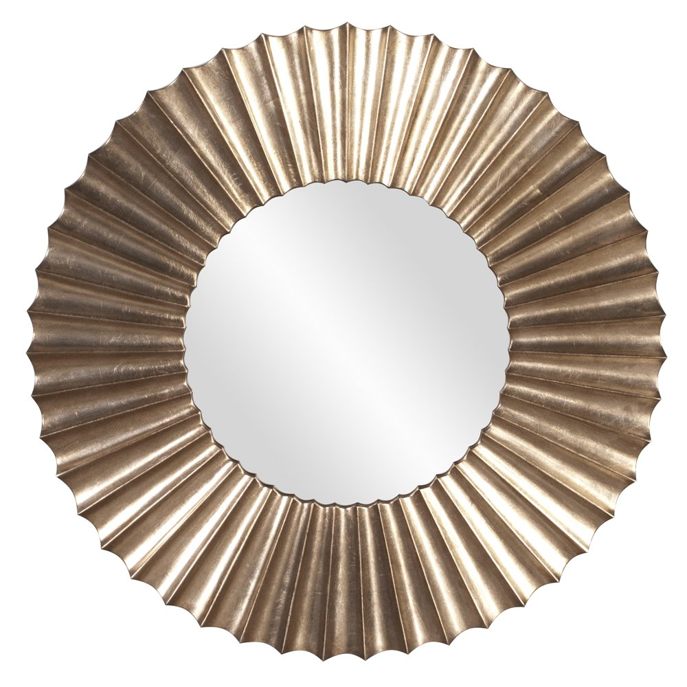 CDM product Howard Elliott 53058 Olivia Leaf Mirror, Silver big image