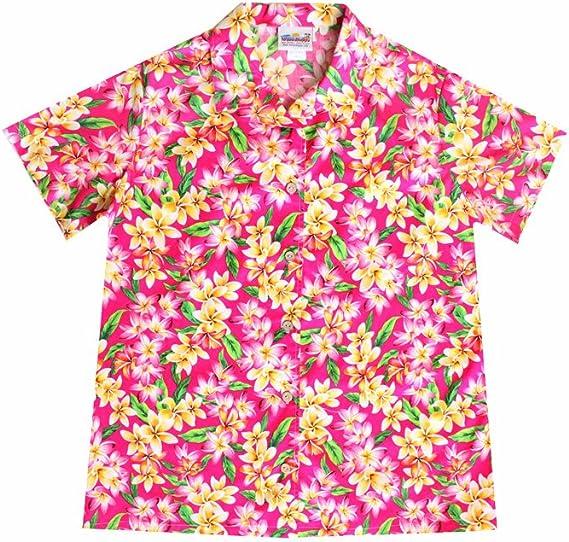 Wave Shoppe Women's Pink Hawaiian Shirt