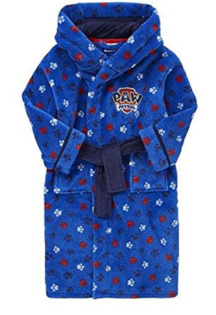 Paw Patrol Hooded Dressing Gown Robe (3-4 Years): Amazon.co.uk ...