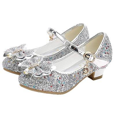 YOSICIL Zapatos de Lentejuelas Niñas Princesa Zapatos de ...