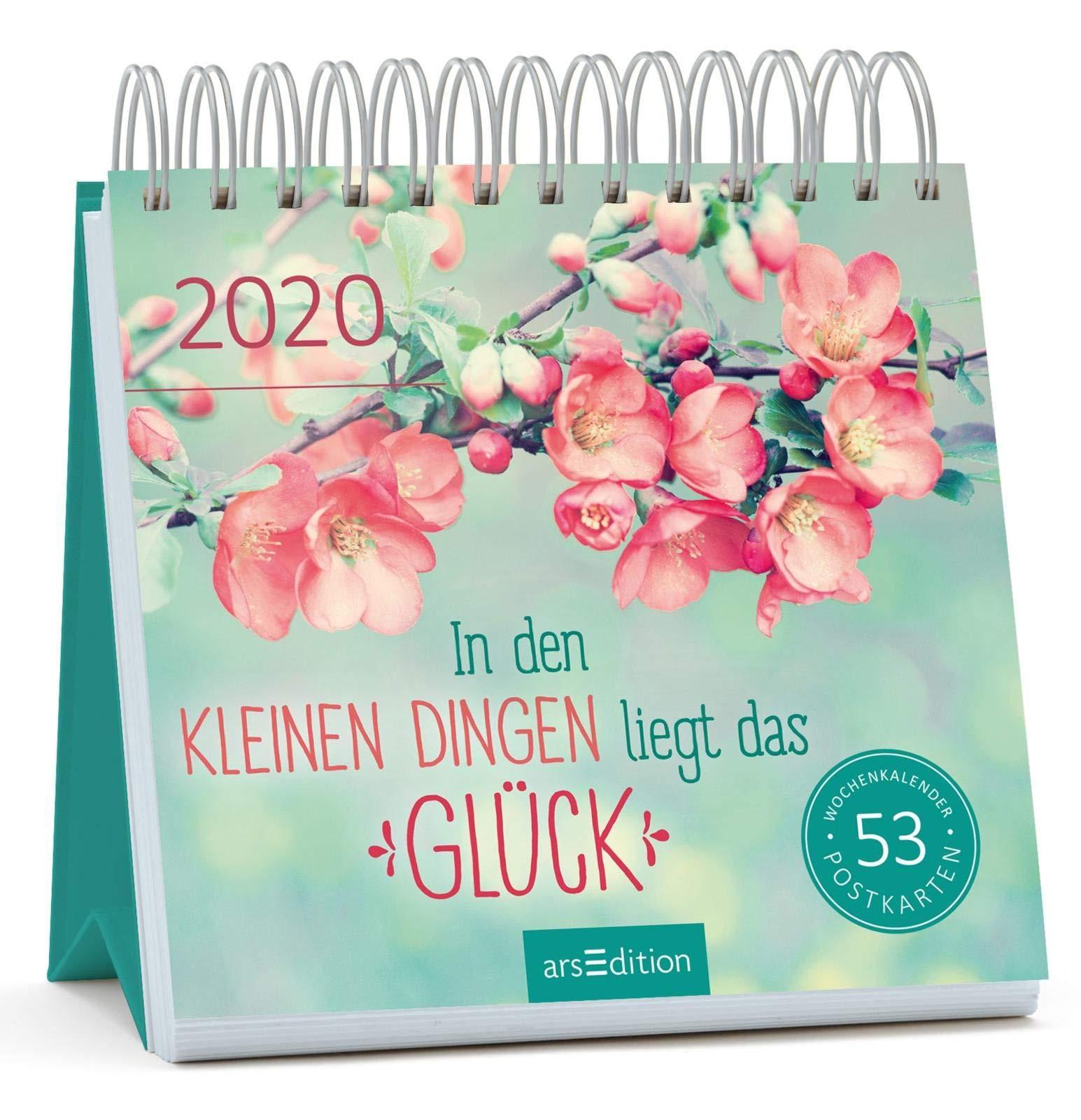 Postkartenkalender In Den Kleinen Dingen Liegt Das Glück 2020   Wochenkalender Mit Abtrennbaren Postkarten  Aufstellkalender Für Mehr Glück Motivation Und Lebensfreude