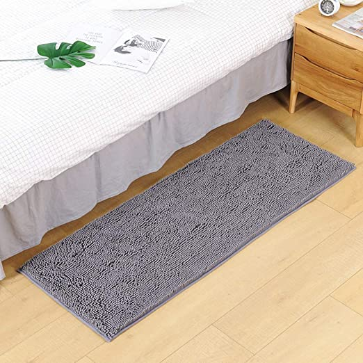 Bathroom Rugs Non-Slip Chenille Microfiber Floor Shower Mat Fast Water Absorbent