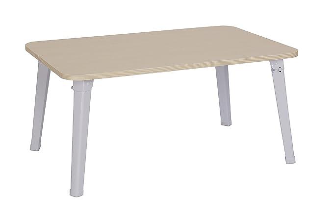 MULSH portátil tabla del escritorio del ordenador portátil soporte plegable desayuno Bandeja para servir de sofá cama con las piernas del metal y tablero ...