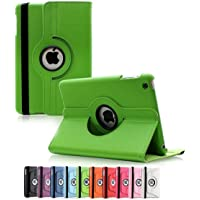 360 Degree Rotating Leather Case Cover for Apple iPad Air 2 (Green)