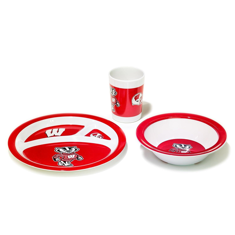 NCAA ウィスコンシンバジャーズ 子供用食器セット 3点セット ワンサイズ チームカラー   B00UI2SQU6