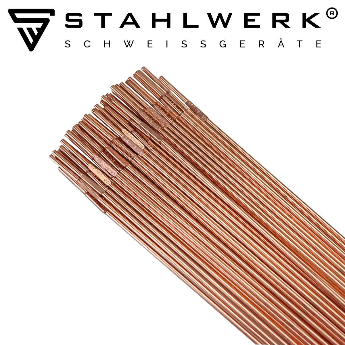 2 kg WIG Schwei/ßzusatz STAHLWERK Schwei/ßst/äbe ER70S-G3 Stahl///Ø 2,5 x 500 mm