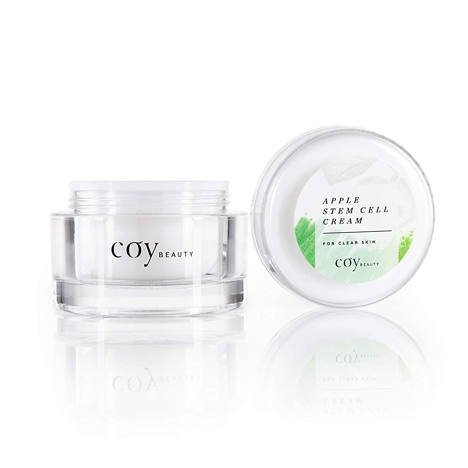 Facial Cream - Stem Cell Moisturizer, Anti-Wrinkle Serum for Face, Neck and Under Eyes, Natural Extracts for Clear Skin, Unscented - Coy Beauty