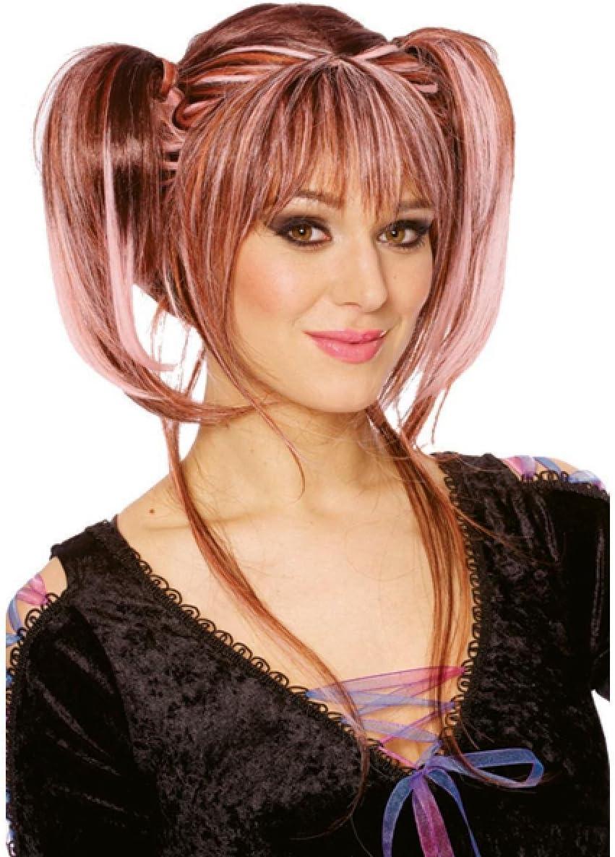 Pinke parrucca con trecce