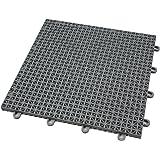 IncStores Outdoor Patio Interlocking Rugged Grip Loc Tiles   25 Pack   Grey