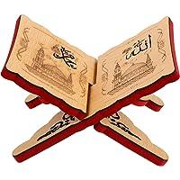 PRETYZOOM Islam Eid Books Shelf Wooden Eid Mubarak Prayer Book Stand Koran Holy Bible Books Storage Display Rack Ramadan…