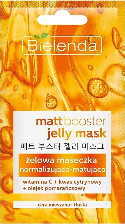 Máscara de Bielenda mate Booster Jelly con Vitamina C grasa y mixta piel 8 G
