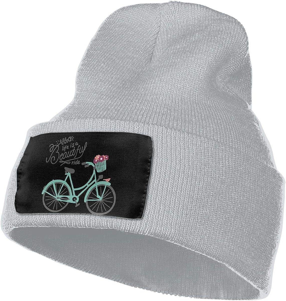 Life is A Beautiful Ride Warm Winter Hat Knit Beanie Skull Cap Cuff Beanie Hat Winter Hats for Men /& Women