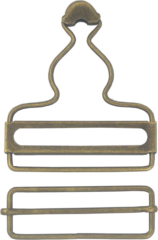 Set of 6 Sliver Metal Fastners Bronze Dungaree Clips Belt Buckle Craft 38mm