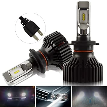 Kashine H7 LED Faro Bombillas H7 LED Lampara Conversion Kit Blanco 26W 8000LM Auto Coche lámpara ...