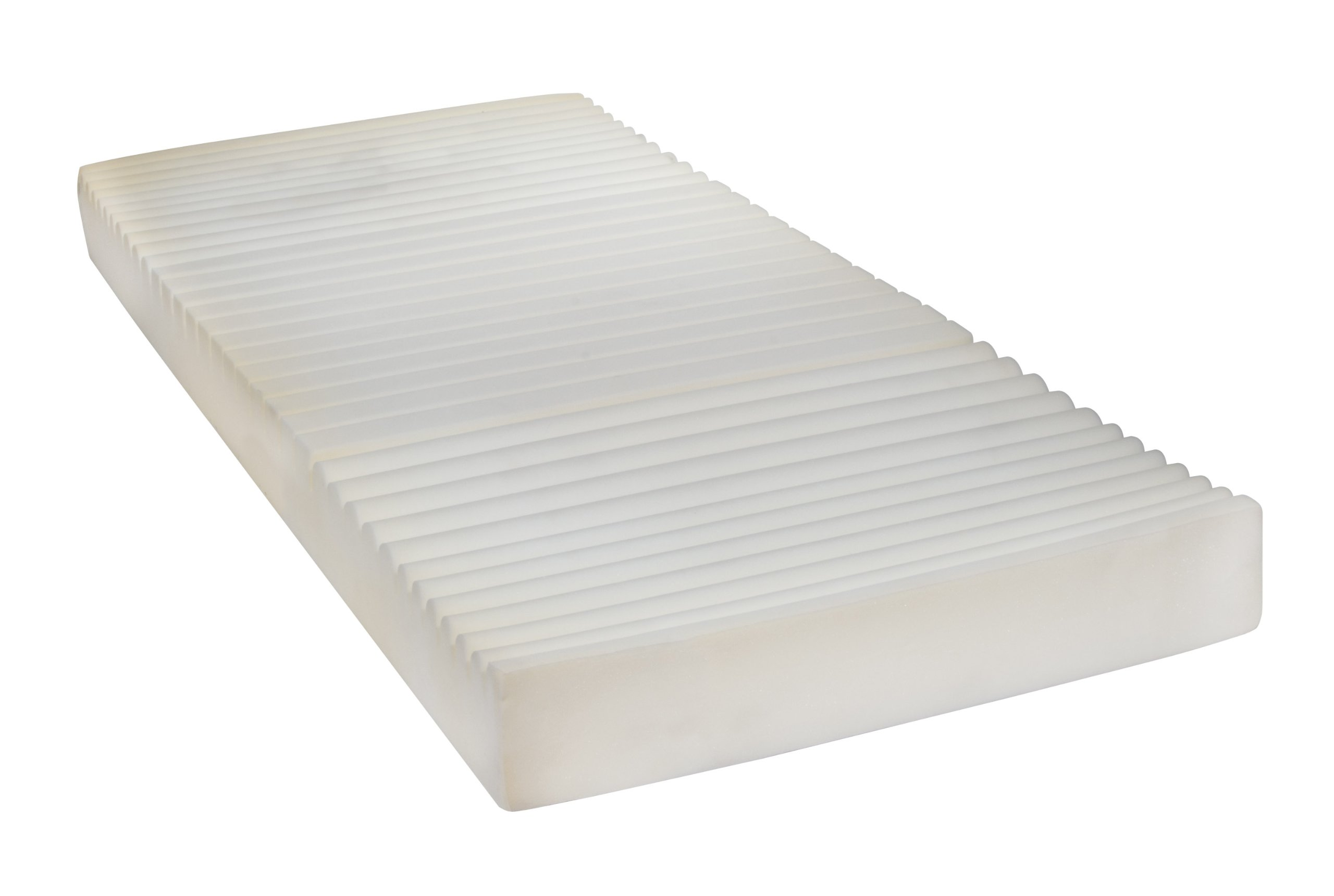 Drive Medical Therapeutic 5 Zone Support Mattress, White, 35'' x 80'' x 5. 5''