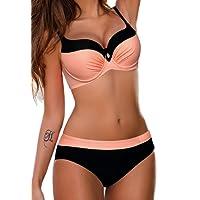 SEASUM bikini costume da bagno due pezzi spiaggia con pad cuscinetto imbottitura nuoto