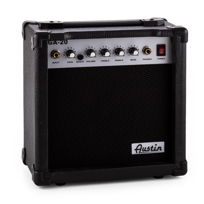 Austin RC200 Juego de guitarra eléctrica modelo Stratocaster Negra: Amazon.es: Instrumentos musicales