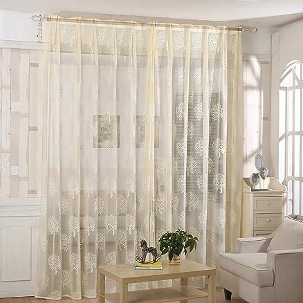 Tenda per Finestra di salotto/camera da letto, moderna, bianco ...