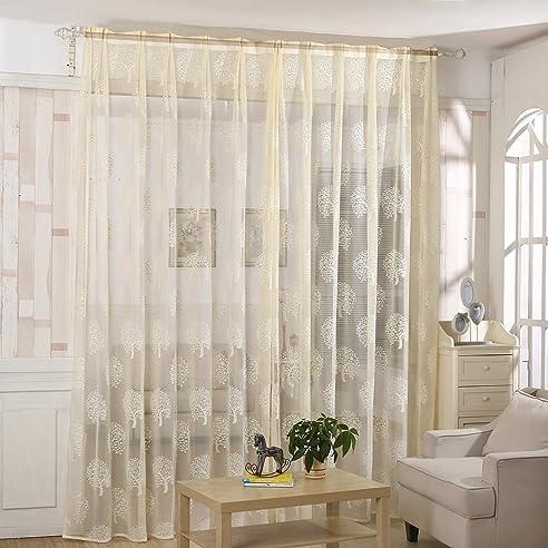 Amazon.de: Fenster-Vorhang für Wohnzimmer Zimmer Moderne ...