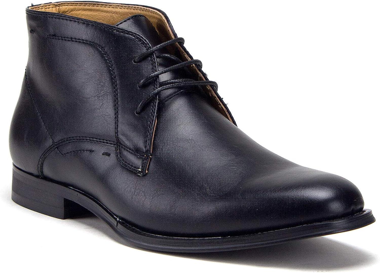 Mens E-624 Classic Ankle High Lace Up Chukka Fashion Dress Boots