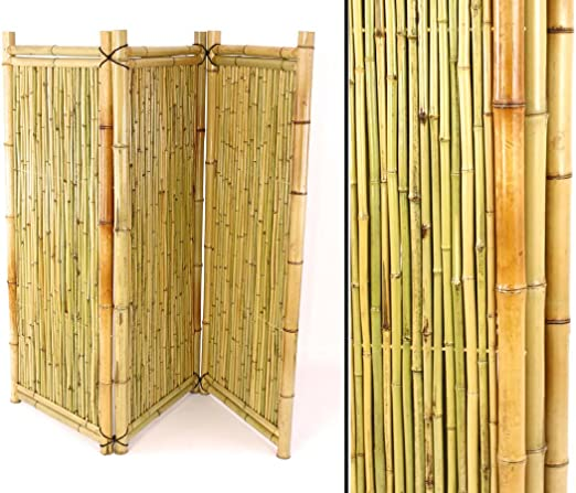 Biombo de bambú como Separador de habitación con 150 x 180 cm – Móvil para Ventana biombos: Amazon.es: Jardín