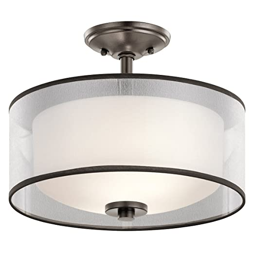 Amazon.com: Semi Flush 2 - Lámpara de techo con acabado en ...