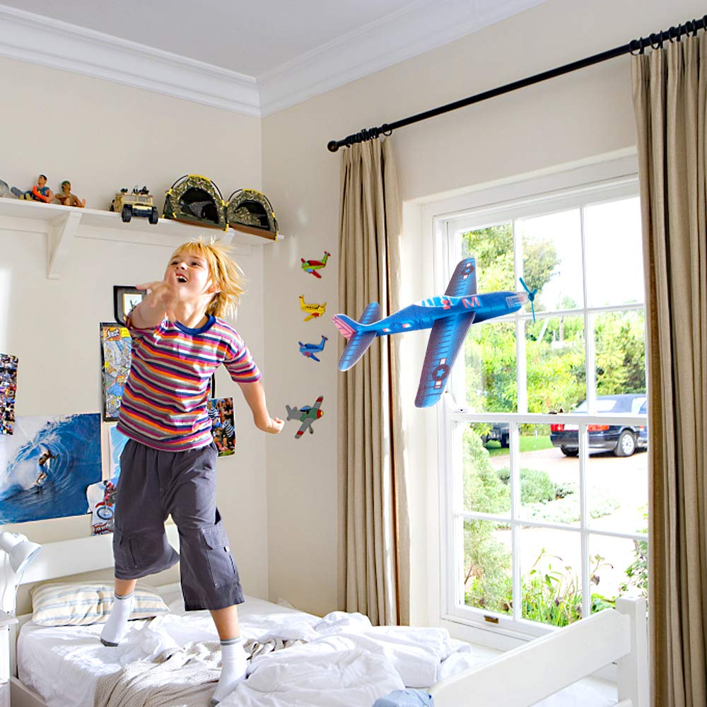 UPINS 48 Pcs 8'' Flying Glider Plane,6 Different Designs by UPINS (Image #5)