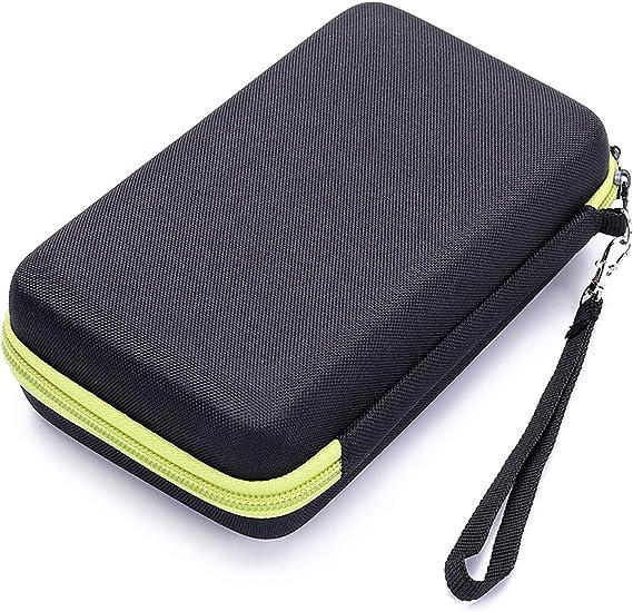 sopear-portable viaje EVA afeitadora eléctrica cortadora almacenamiento caja bolsa organizador para Philips Norelco ONEBlade qp2530 2520-verte: Amazon.es: Belleza