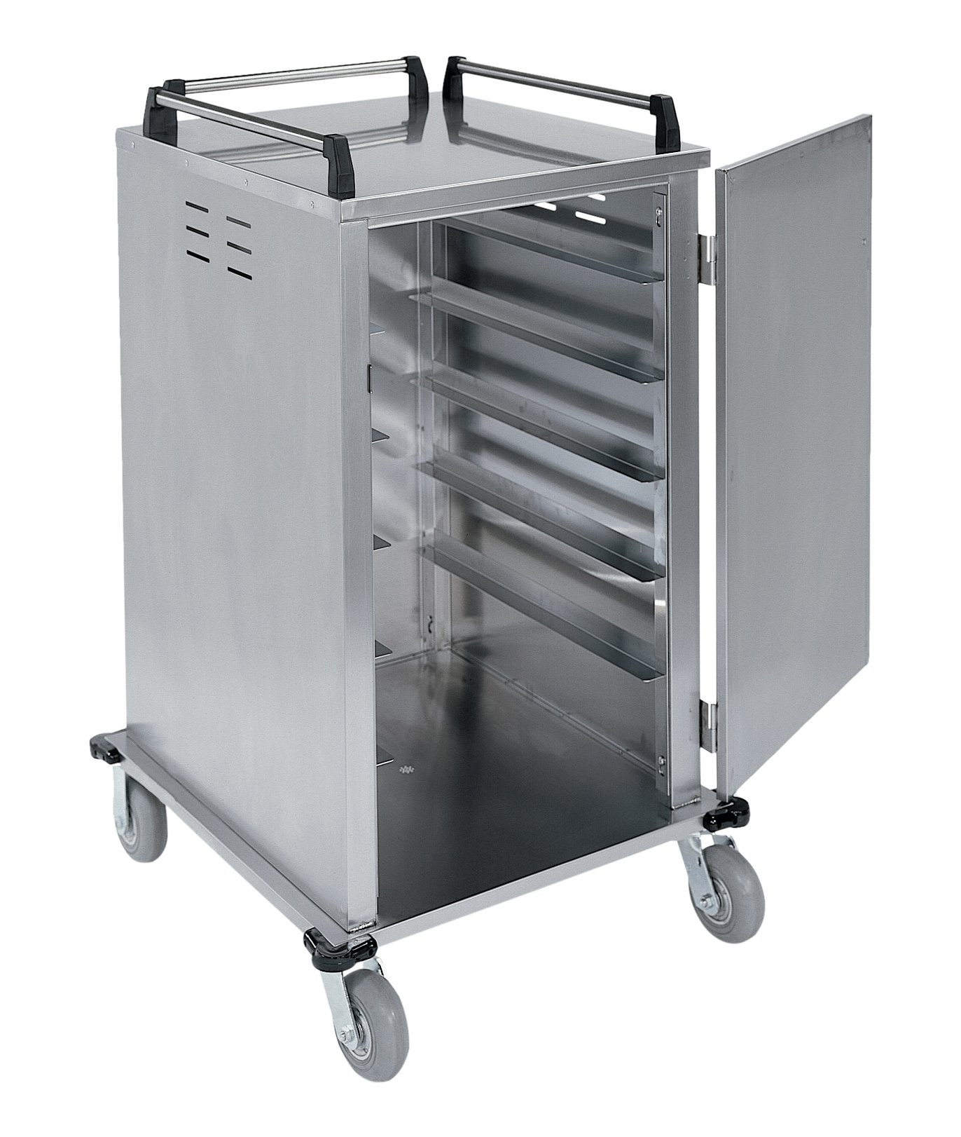 Lakeside 5510, Elite Series, Enclosed Room Service, Tray Delivery Cart; Stainless Steel, 12 Tray Capacity, 32-1/4'' x 36-3/4'' x 48-3/4'' by Lakeside (Image #2)