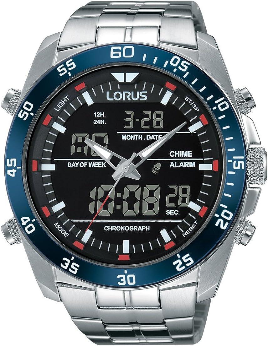 Lorus Reloj Analógico de Cuarzo para Hombre con Correa de Acero Inoxidable – RW623AX9