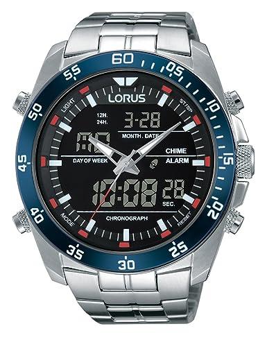 74523cede082 Lorus Reloj Analógico de Cuarzo para Hombre con Correa de Acero Inoxidable  - RW623AX9  Amazon.es  Relojes