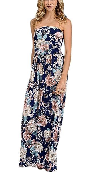 Mujer Vestidos Largos De Verano Elegantes Casual Estampados Flores Vintage Boho Vestido Largo De Fiesta Playa