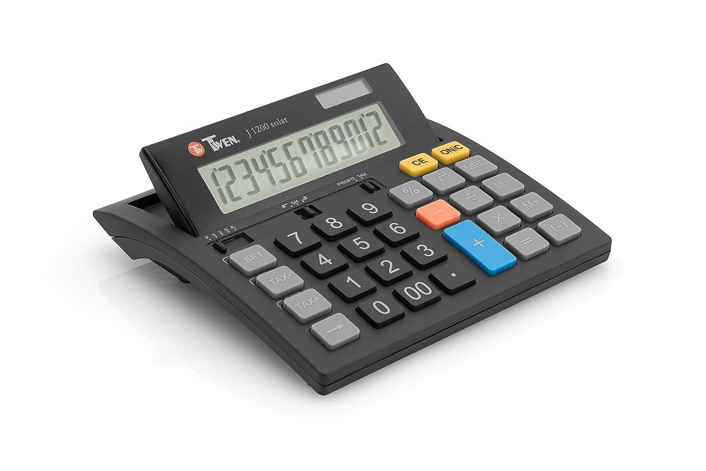 Triumph Adler - TRITON calculatrice de bureau TWEN J-1200 solar, 12 carac. Schneider Novus