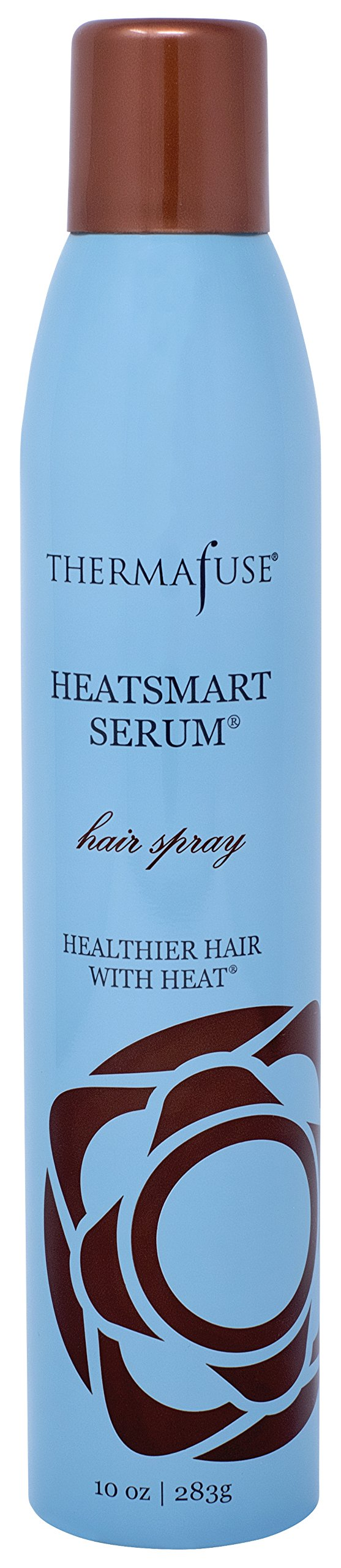 Thermafuse HeatSmart Serum Hair Spray (10 Ounce) Add Firm, Movable Hold, Certified Organic Oils. Gives Natural Reflective Shine to Dull, Damaged, Dry, Over Processed Hair Types.