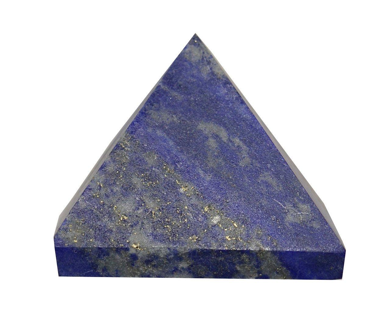 Lapis Lazuli Gemstone Pyramid (3/4'' - 1'') - 1pc w/ Metaphysical Info Card
