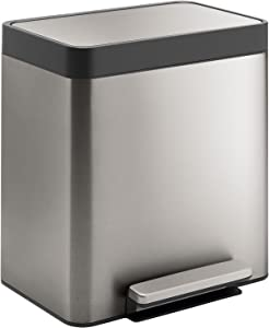 Kohler K-20942-ST 8-Gallon Compact Stainless Step Trash Can, Stainless Steel