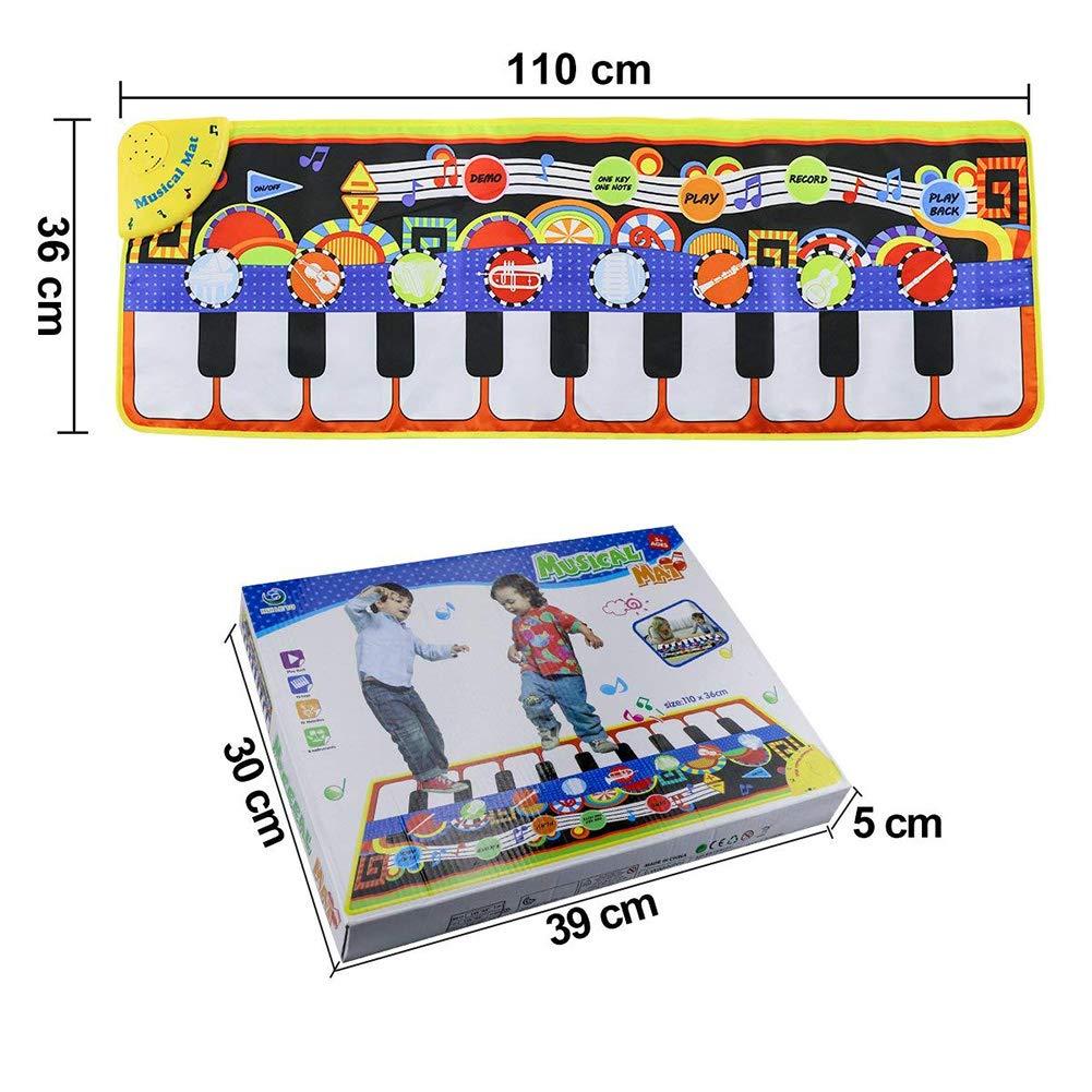 Yeenee 19 Keys Piano Play Mat Dance Musical Mat Kids Musical Floor Game Activity Blanket Cushion by Yeenee (Image #3)