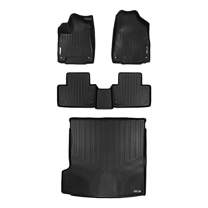 No Plug-in Hybrid Models Black MAX LINER Custom Fit Floor Mats 3 Row Liner Set Black for 2016-2019 Volvo XC90