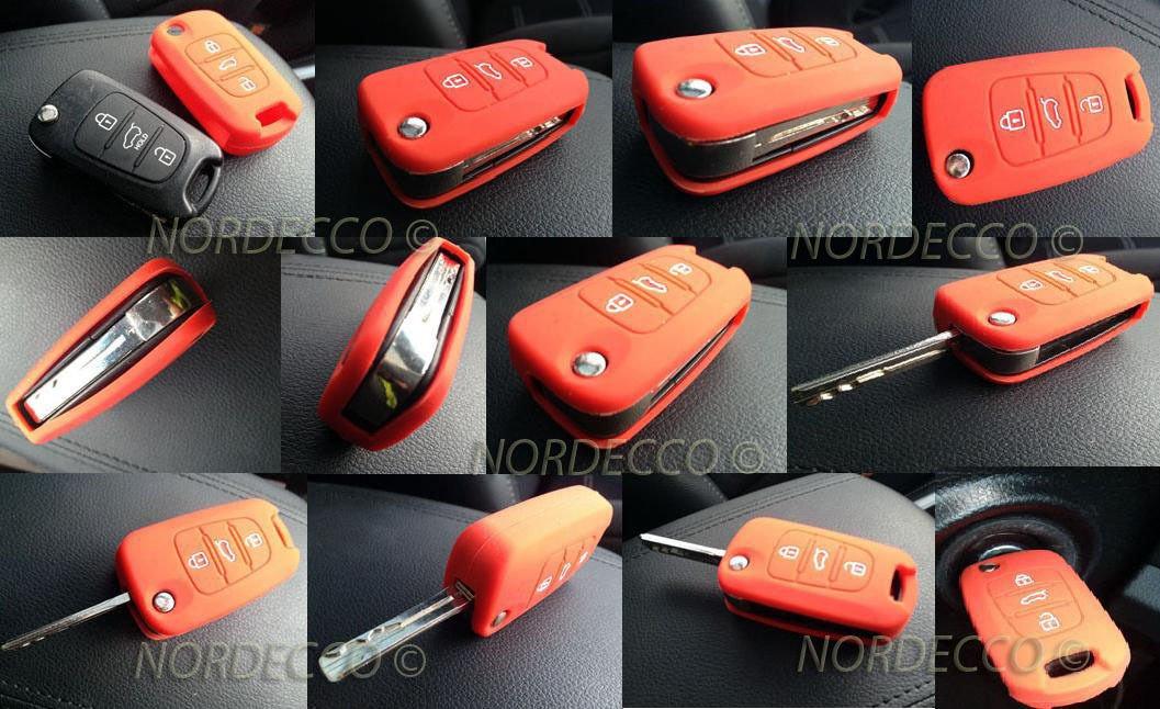 Coque CLE Fiat 500 Housse silicone ;3 boutons Fiat 500 500C 500L Lounge Abarth Grande Punto Panda Brava Stilo Linea Noir