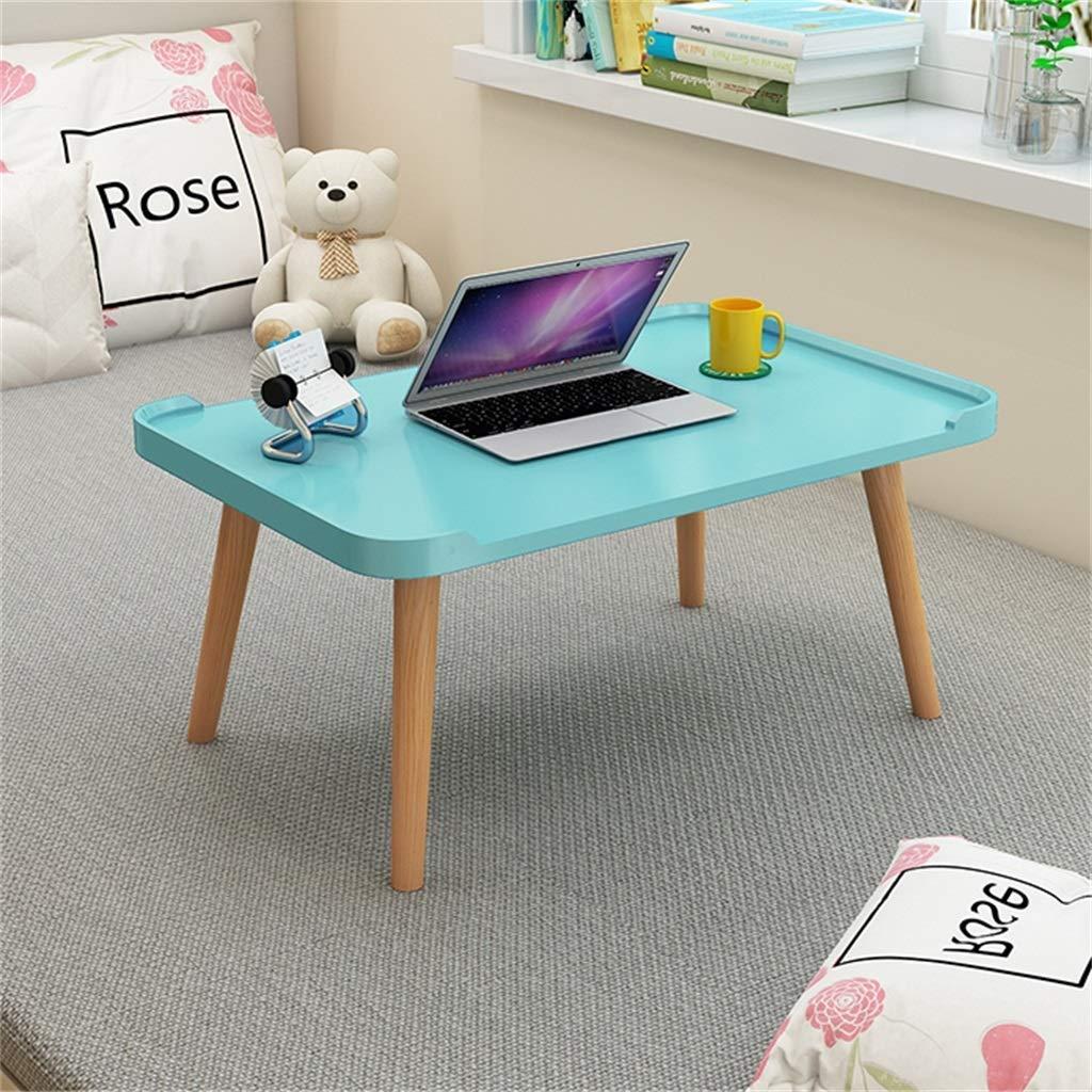 ZXL sängbord, används för barn lära sig äta frukostmonterad laptopskrivbord, 60 cm x 40 cm x 30 cm (färg: Grå, storlek: B) BLÅ