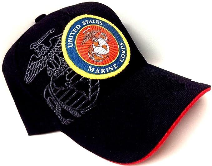Black Round Logo Marines USMC United States Marine Corps Hat Cap
